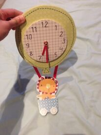 Clock and curtain tie backs