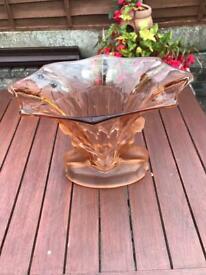 Vintage Unusual pretty glass ornament display.