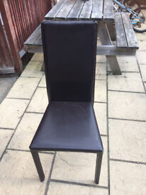 6 x faux leather high back chairs in need of upholstering