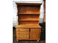 Pine Dresser, Late Victorian c1880, Scottish. Lovely aged piece. Top detaches. W:1215, D:490, H:1910