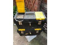 2 Stanley toolboxes