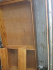 MODERN PINE TALL FREE-STANDING BOOKSHELF / SHELVES WITH BACKBOARD. VIEW/DELIVERY AVAILABLE