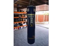 Onex Heavy Filled Boxing Set 5FT Punch Bag Gloves Ceiling Hook Chain MMA Punching Training