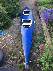 Two man fibreglass kayak