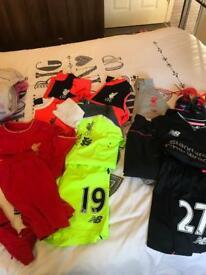 Last seasons kits all large boys