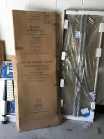 LAKES 2000mm X 700mm Silver Shower Screen - NEW