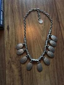Metal silver necklace