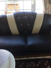 Versace 3 seater sofa & chair