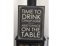 Canvas - Time To Ddink Champagne And Dance On The Table