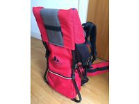 Vaude Jolly Comfort Baby / Toddler / Child Carrier from John Lewis in red