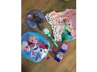 Frozen rucksack, fan, pencil holder, top yr4, musical wand+sparkle globe