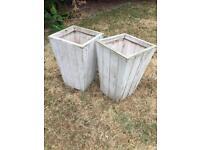 Wooden garden pots