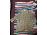 Cream knit winter cardigan size small indigo clothes
