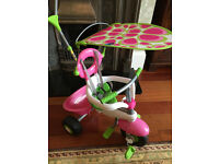 Smart Trike 3 in 1 Pink and Green * EXCELLENT CONDITION *