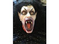 Halloween gothic vampire head decoration