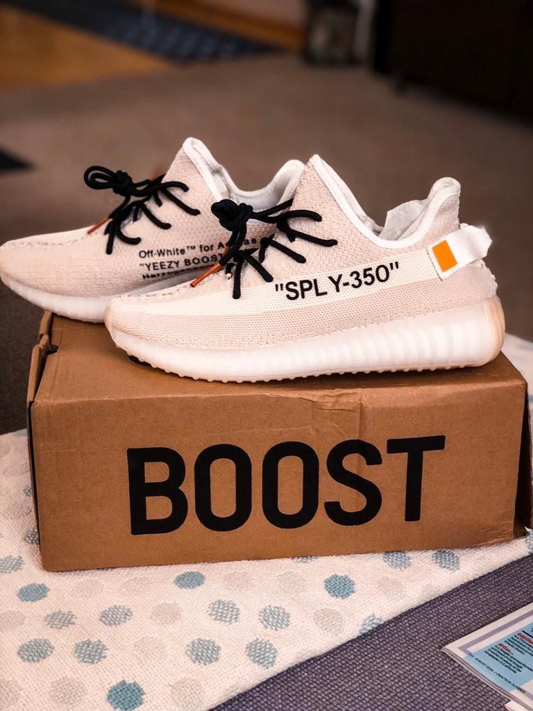 another chance 6e7fb 0c827 Custom OFF WHITE Adidas Yeezy 350 Boost. Ltd Edition Size 8 UK | in  Newcastle, Tyne and Wear | Gumtree