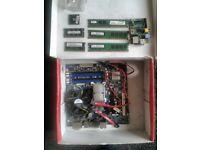 Intel core 2 Quad 2.5ghz, intel DG45ID motherboard 6GB ram + DDR2 laptop ram + rasberry pi B + c2CPU