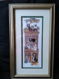 Framed Cat Picture. Diane Elson.