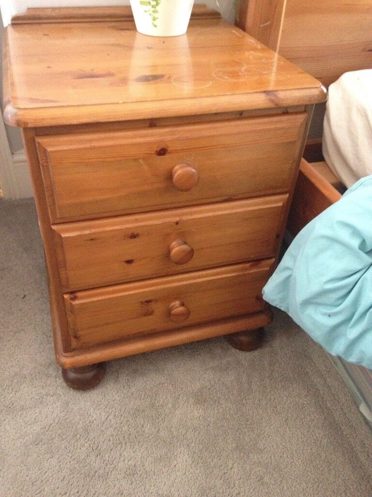Two pine bedside tables | in Exeter, Devon | Gumtree