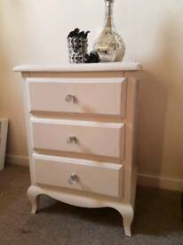 Ivory bedside table (Florence, Dunelm)