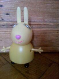 Peppa Pepper Pepa Pig toys character figure Miss Rabbit Mummy Rabbit (3 available) in yellow dress