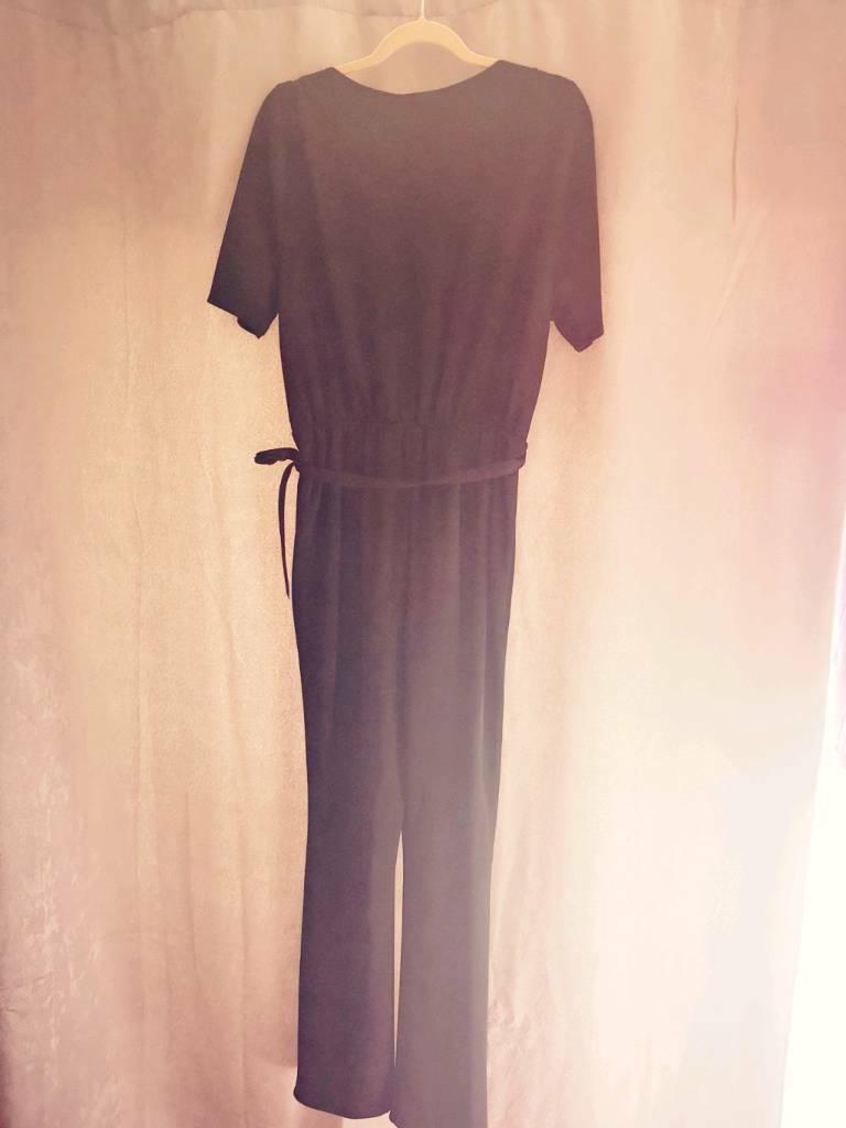 dadc2a46400 Black jumpsuit 14 Tall