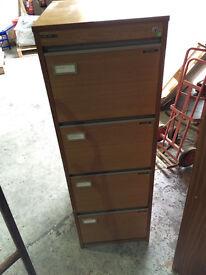 wooden filing cabinet - 4 drawer