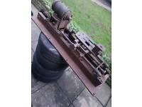 Vintage Metalworking Turning Lathe - metal wood machining machine Miller mill