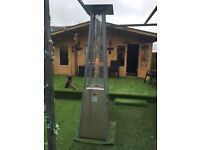 LARGE ATHENA GLASS FLAME GARDEN/PUB GAS HEATER