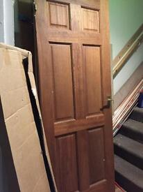 6 panel hardwood doors x3