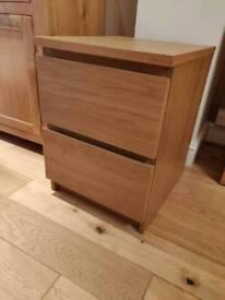 Ikea 2 drawer unit for bedside