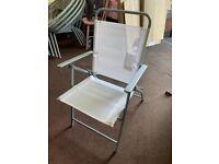 Folding garden chair - White