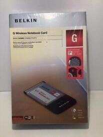 Belkin G wireless network card. New still sealed