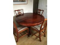 Extendable Table & 4 Regency Chairs