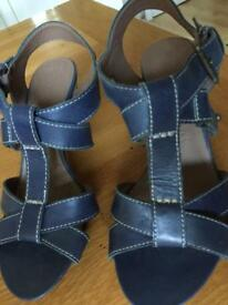 New M&S Footglove leather sandals