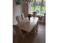 Dansk Extendable Dining table +6 chairs - excellent condition