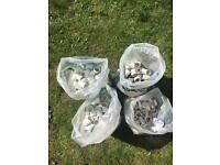 Job lot of white 43mm solvent weld waste fittings