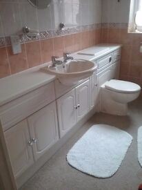 Reduced price bathroom cabanets,shower,extras