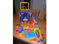 Play Doh trolley, accesories & Hungry Hippos Play Doh set