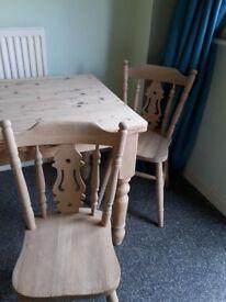 Solid oak handmade table