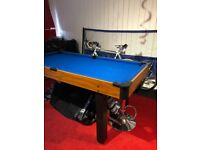 Pool table/snooker table 6' x 3'.