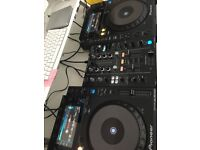 X2 PIONEER CDJ-900 NEXUS X1 DJM-450 MIXER FOR SALE