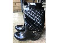Black Khombu Fashion Rain Boots - US 11M - UK 8