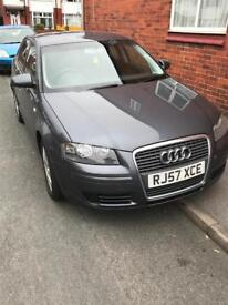 2007 Audi A3 2.0 Tdi 5DR FULL SERVICE HISTORY Sportback Grey REDUCED TO CLEAR NO OFFERS!!