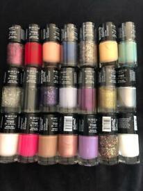 21 nail varnishes