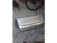 Porsche 996 silver boot lid