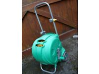 HOZELOCK GARDEN HOSE ON WHEELS LONG HOSE WITH FITTINGS ONLY £20