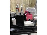 spray tan equipment full kit pluse loads of extras spray tan machine extracta 3 tents 2 pink 1 black