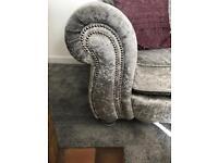 Velvet sofa RRP 848 DFS