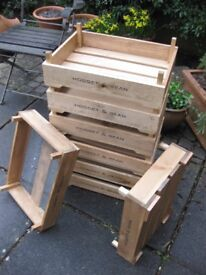 Wooden stackable garden boxes/trays
